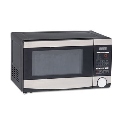 View larger image of 0.7 Cu.ft Capacity Microwave Oven, 700 Watts, Stainless Steel and Black