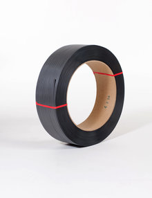 """1/2"""" x 7,200` .027 500# 16 x 6 Black Hand Grade Poly Strapping #H1250EMB072T7"""