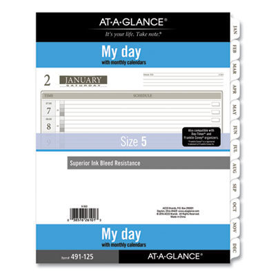 View larger image of 1-Page-Per-Day Planner Refills, 11 x 8.5, White, 2021