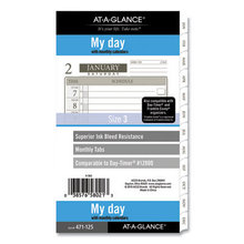 1-Page-Per-Day Planner Refills, 6.75 x 3.75, White, 2021