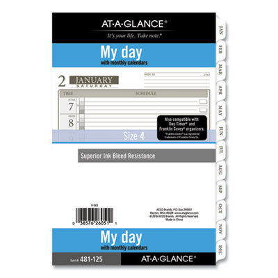 View larger image of 1-Page-Per-Day Planner Refills, 8.5 x 5.5, White, 2021
