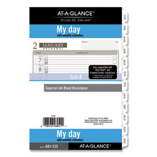 1-Page-Per-Day Planner Refills, 8.5 x 5.5, White, 2021