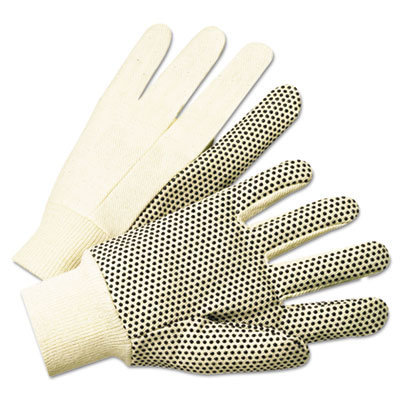 View larger image of 1000 Series PVC Dotted Canvas Gloves, White/Black, Large, 12 Pairs