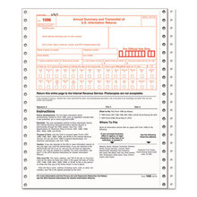 1096 Summary Transmittal Tax Forms, Two-Part Carbonless, 8 X 11, 1/page, 10 Forms