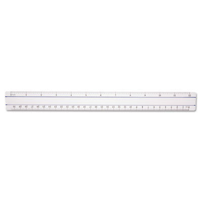 """View larger image of 12"""" Magnifying Ruler, Plastic, Clear"""