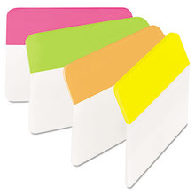 """2"""" Angled Tabs, 1/5-Cut Tabs, Assorted Brights, 2"""" Wide, 24/Pack"""