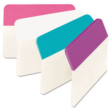 """2"""" Angled Tabs, 1/5-Cut Tabs, Assorted Pastels, 2"""" Wide, 24/Pack"""
