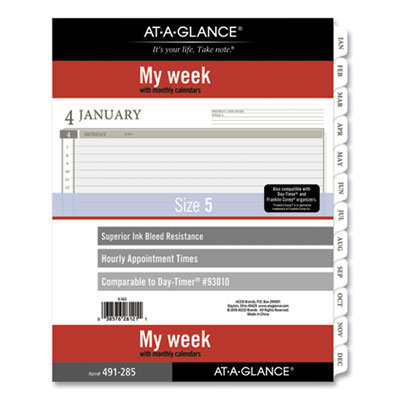 View larger image of 2-Page-Per-Week Planner Refills, 11 x 8.5, White, 2021