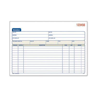 View larger image of 2-Part Invoice Book, Carbonless, 5.56 x 8.44, 50/Book