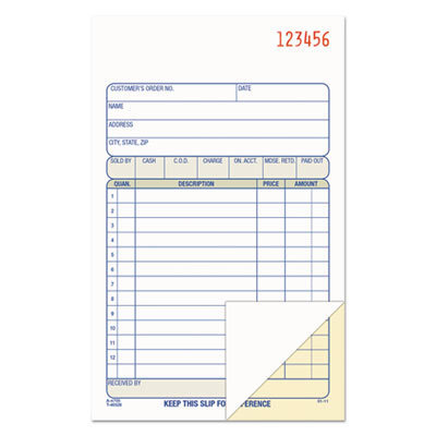 View larger image of 2-Part Sales Book, 6 11/16 x 4 3/16, Carbonless, 50 sets/Book