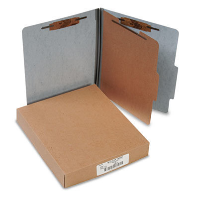 View larger image of 20 pt. PRESSTEX Classification Folders, 1 Divider, Letter Size, Gray, 10/Box