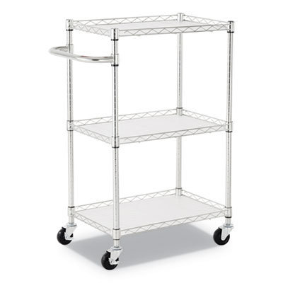 View larger image of 3-Shelf Wire Cart with Liners, 24w x 16d x 39h, Silver, 500-lb Capacity