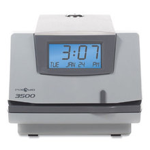 3500 Time Clock and Document Stamp, Light Gray/Charcoal