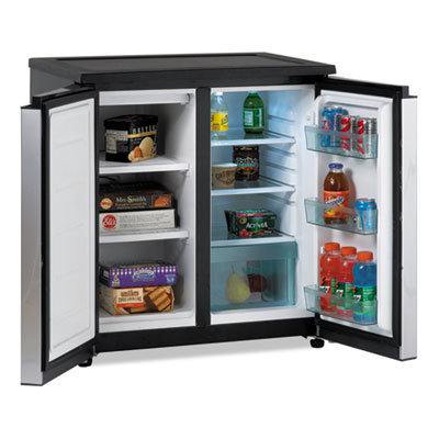 View larger image of 5.5 CF Side by Side Refrigerator/Freezer, Black/Stainless Steel