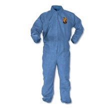 A60 Elastic-Cuff, Ankle & Back Coveralls, Blue, Large, 24/Case