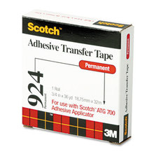 """Atg Adhesive Transfer Tape Roll, Permanent, Holds Up To 0.5 Lbs, 0.75"""" X 36 Yds, Clear"""
