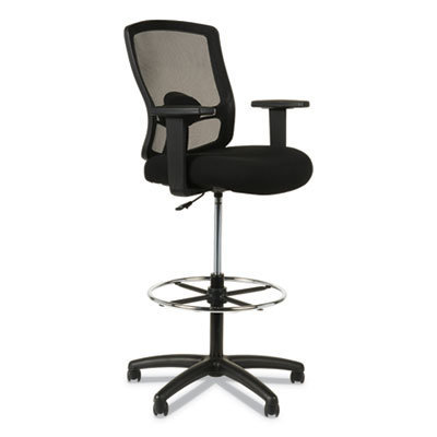 """View larger image of Alera Etros Series Mesh Stool, 36.13"""" Seat Height, Supports up to 275 lbs, Black Seat/Black Back, Black Base"""