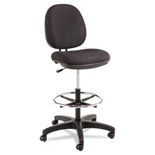 """Alera Interval Series Swivel Task Stool, 33.26"""" Seat Height, Supports up to 275 lbs, Black Seat/Black Back, Black Base"""