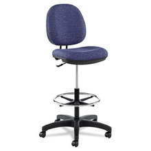 """Alera Interval Series Swivel Task Stool, 33.26"""" Seat Height, Supports up to 275 lbs, Marine Blue Seat/Marine Blue Back"""