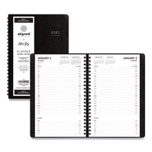 Aligned Daily Appointment Planner, 8 x 5, Black, 2021