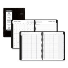 Aligned Weekly/Monthly Appointment Planner, 11 x 8.25, Black, 2021