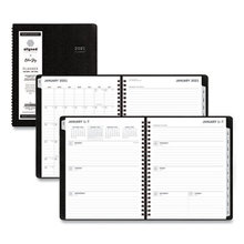 Aligned Weekly/Monthly Notes Planner, 8.75 x 7, Black, 2021