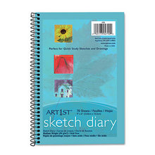 Art1st Sketch Diary, Unruled, 9 x 6, White, 70 Sheets