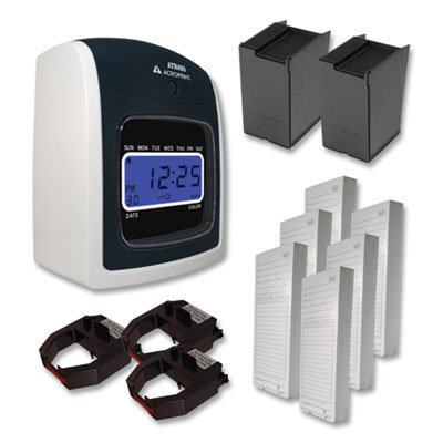 View larger image of ATR480 Time Clock and Accessories Bundle, White/Charcoal