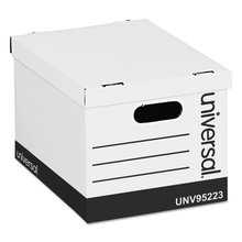 Basic-Duty Easy Assembly Storage Files, Letter/Legal Files, White, 12/Carton