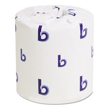 Bathroom Tissue, Standard, Septic Safe, 2-Ply, White, 4 x 3, 500 Sheets/Roll, 96/Carton