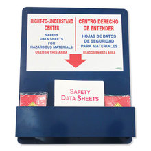 """Bilingual """"Right-To-Understand"""" SDS Center, 25w x 5.2d x 30h, Blue/White/Red"""