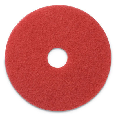 """View larger image of Buffing Pads, 17"""" Diameter, Red, 5/CT"""