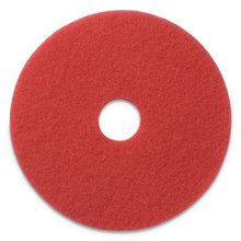 """Buffing Pads, 19"""" Diameter, Red, 5/CT"""