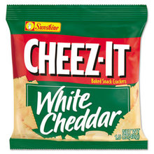 Cheez-It Crackers, 1.5 oz Single-Serving Snack Bags, White Cheddar, 8/Box