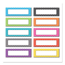"""Chevron Labels Magnetic Accents, 10 Assorted Colors, 4.75"""" x 1.5"""", 20/Pack"""