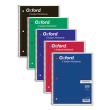 Coil-Lock Wirebound Notebooks, 1 Subject, Medium/College Rule, Assorted Color Covers, 11 x 8.5, 100 Sheets