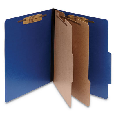 View larger image of ColorLife PRESSTEX Classification Folders, 2 Dividers, Letter Size, Dark Blue, 10/Box