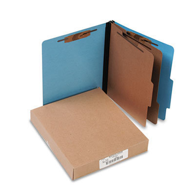 View larger image of ColorLife PRESSTEX Classification Folders, 2 Dividers, Letter Size, Light Blue, 10/Box