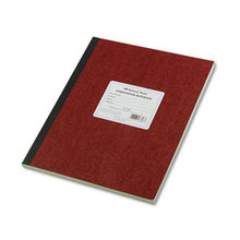Computation Notebook, 4 sq/in Quadrille Rule, 11.75 x 9.25, Green Tint, 75 Sheets
