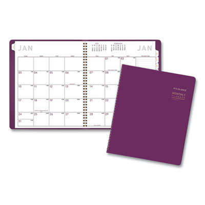 View larger image of Contemporary Monthly Planner, 11 x 9, Purple, 2021