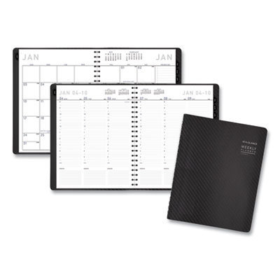 View larger image of Contemporary Weekly/Monthly Planner, Column, 11 x 8.25, Graphite Cover, 2021