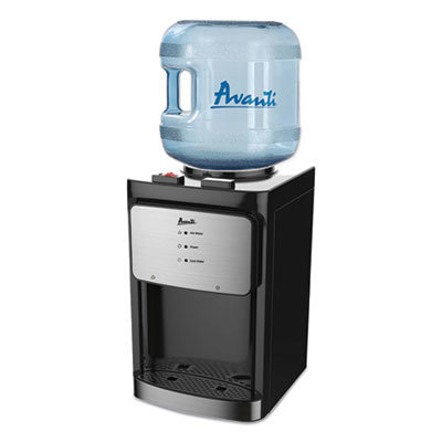 View larger image of Counter Top Thermoelectric Hot and Cold Water Dispenser, 3 to 5 gal, 12 x 13 x 20, Black