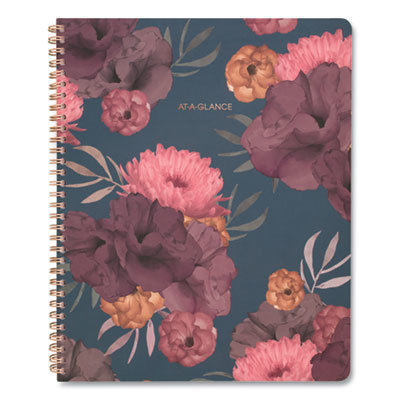 View larger image of Dark Romance Weekly/Monthly Planner, 11 x 8.5, Floral, 2021-2022