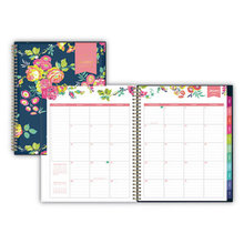 Day Designer CYO Weekly/Monthly Planner, 11 x 8.5, Navy/Floral, 2021