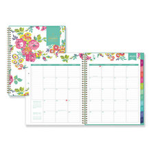 Day Designer CYO Weekly/Monthly Planner, 11 x 8.5, White/Floral, 2021