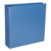 """Deluxe Round Ring View Binder, 3 Rings, 2"""" Capacity, 11 x 8.5, Light Blue"""