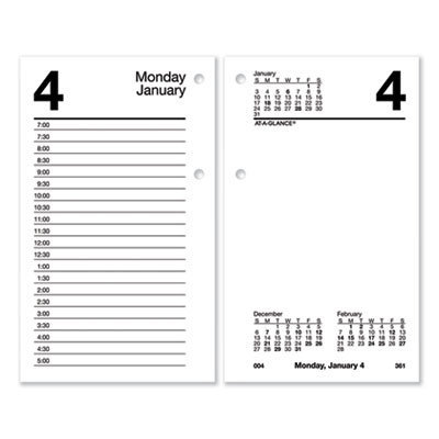 View larger image of Desk Calendar Refill with Tabs, 6 x 3.5, White, 2021