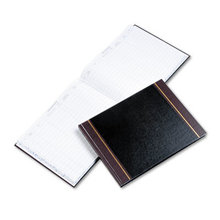 Detailed Visitor Register Book, Black Cover, 208 Ruled Pages, 9.5 x 12.25