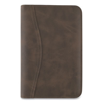 View larger image of Distressed Brown Leather Starter Set, 6.75 x 3.75, Brown