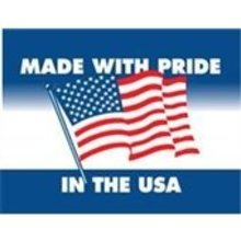 """#DL1660 3 x 4"""" Made with Pride In the USA Label"""